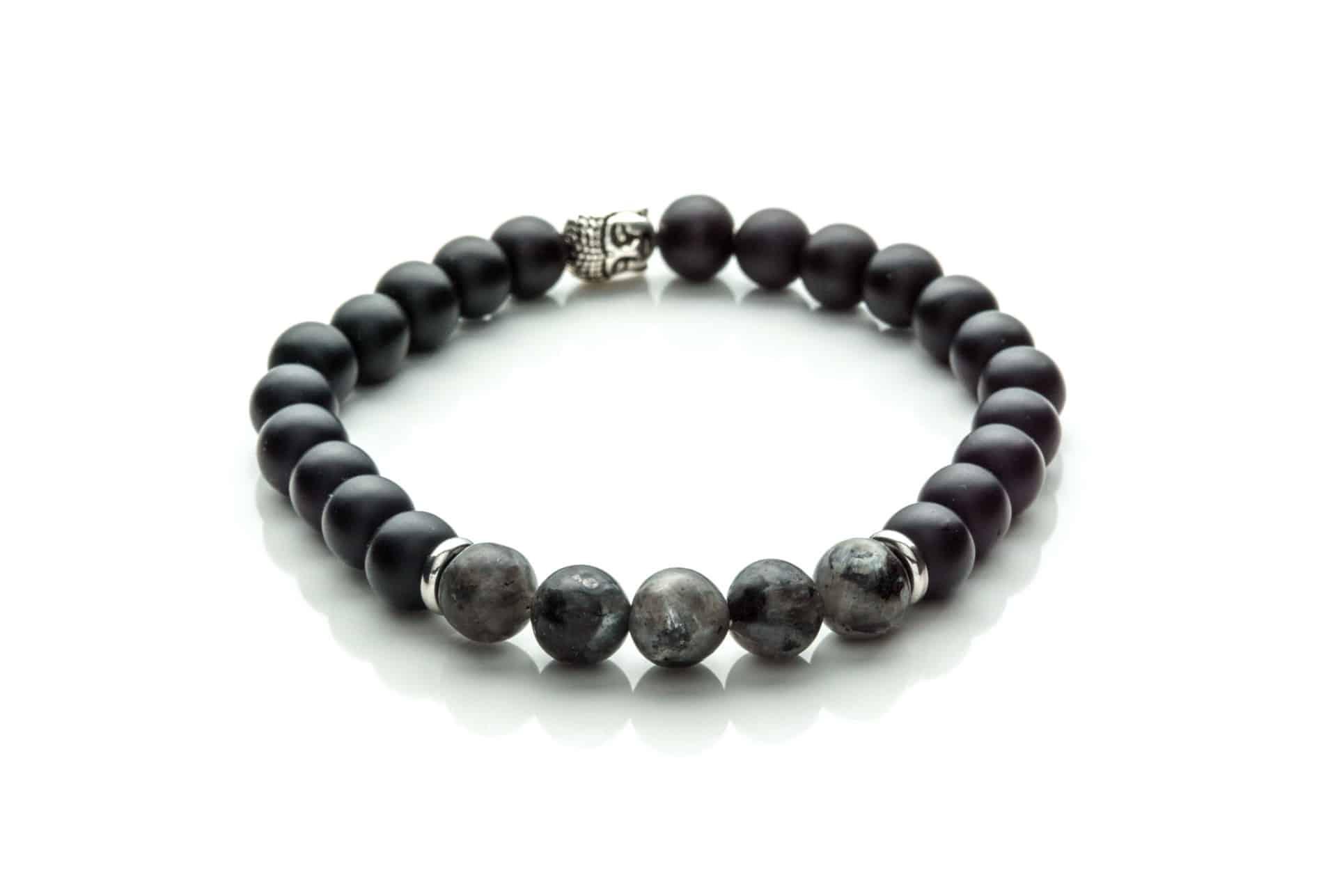 Men Bracelet Labradorit, Onix